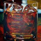 Art: whiskey on the rocks by Artist Lesa Fitch Keirsey