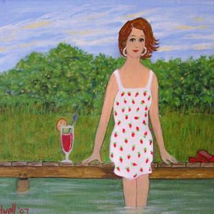 Art: Dock Encore! (SOLD) by Artist Fran Caldwell