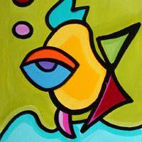 Art: Sassy Angel Fish by Artist Sonya Paz
