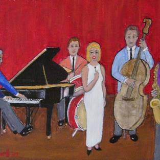Art: Sunday Night Blues (SOLD) by Artist Fran Caldwell