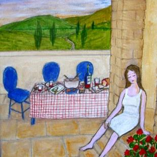 Art: Provencale Supper (Not for Sale) by Artist Fran Caldwell