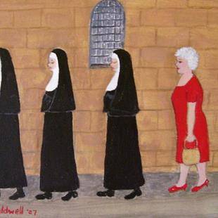 Art: Gran's Tour Group? (Sold) by Artist Fran Caldwell