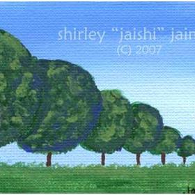 Art: Trees ACEO 01 by Artist Shirley Inocenté
