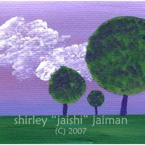 Art: Trees ACEO 02 by Artist Shirley Inocenté