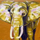 Art: African Elephant by Artist Ben Walker