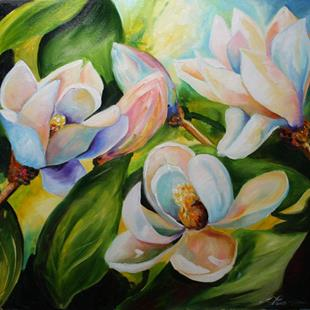 Art: Five Magnolia by Artist Laurie Justus Pace
