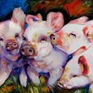 Art: MY DIRTY LITTLE PIGS by Artist Marcia Baldwin