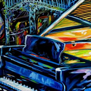Art: JAZZ PIANO NEW ORLEANS MUSIC by Artist Marcia Baldwin