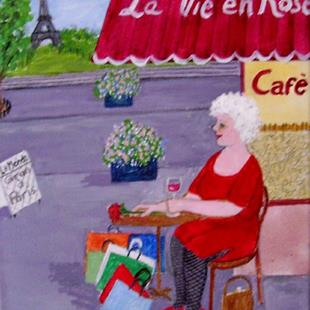 Art: Gran in Paris (Not for Sale) by Artist Fran Caldwell