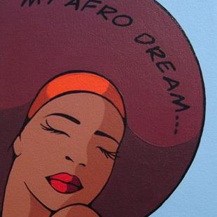Art: My Afro Dream... by Artist Kris Jean