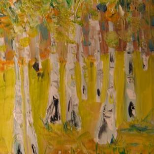 Art: Meadow of Birches by Artist Delilah Smith