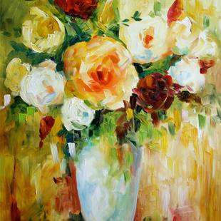 Art: Roses for Gladys by Artist Laurie Justus Pace