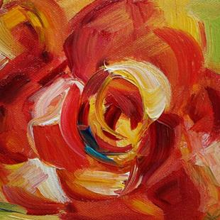 Art: Single Rose by Artist Laurie Justus Pace