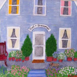 Art: Mabel's Doll House (Sold) by Artist Fran Caldwell