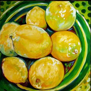 Art: LEMON BOWL by Artist Marcia Baldwin
