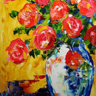 Art: Red Roses of Summer by Artist Laurie Justus Pace