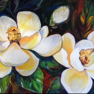 Art: SOUTHERN MAGNOLIAS by Artist Marcia Baldwin