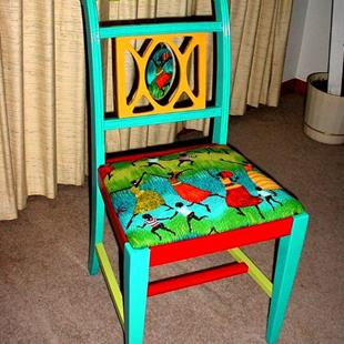 Art: African Rain Chair SOLD by Artist Vicky Helms