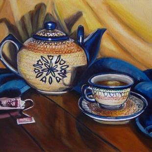 Art: Tea for One: Polish Pottery XX by Artist Heather Sims
