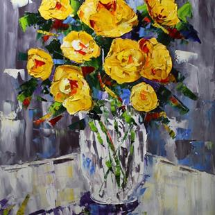 Art: Yellow Roses by Artist Laurie Justus Pace