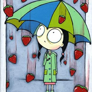 Art: Strawberry Rain by Artist Cary Dunlap Daly