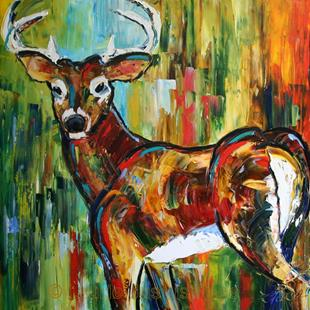 Art: White Tail Buck by Artist Laurie Justus Pace