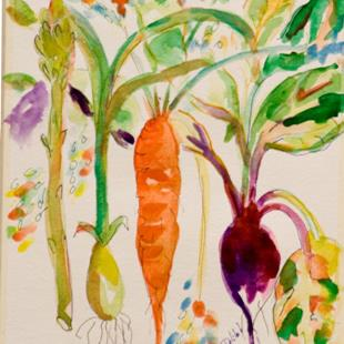 Art: Mixed Vegtables by Artist Delilah Smith