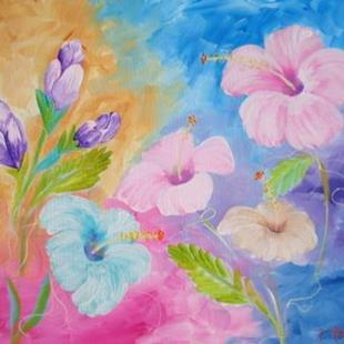 Art: HIBISCUS CANDY - SOLD by Artist Ke Robinson