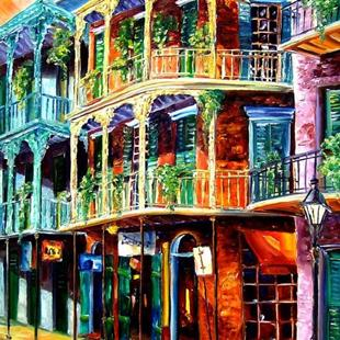 Art: Early Morning on Royal Street - SOLD by Artist Diane Millsap