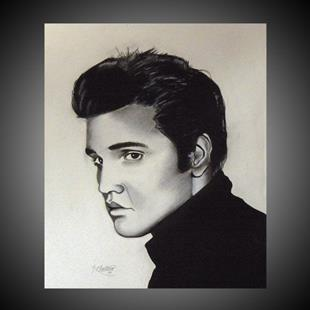 Art: ELVIS PRESLEY by Artist Kate Challinor