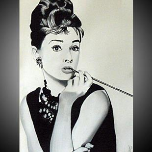 Art: AUDREY HEPBURN by Artist Kate Challinor