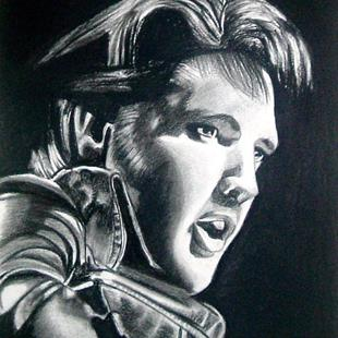 Art: ELVIS - THE KING by Artist Kate Challinor