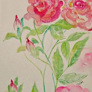 Art: Two Roses-sold by Artist Delilah Smith