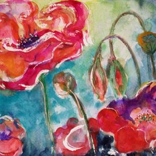 Art: Wow Poppies by Artist Delilah Smith