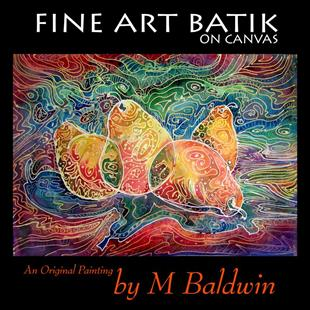 Art: 4 PEAR BATIK by Artist Marcia Baldwin