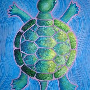 Art: Turtle Is Earth by Artist Lindi Levison