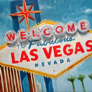 Art: Welcome to Las Vegas by Artist Muriel Areno