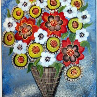 Art: WINTER BOUQUET-sold by Artist LUIZA VIZOLI