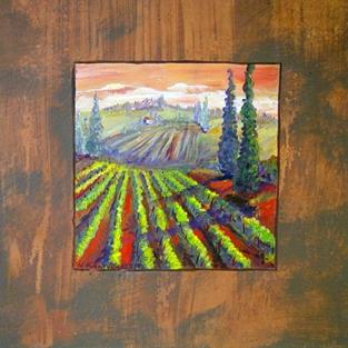 Art: Tuscan series: Shadow hills by Artist Kathryn Delany