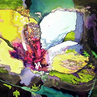 Art: Hibiscus by Artist Lisa Thornton Whittaker