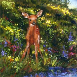 Art: New Fawn by Artist Patricia  Lee Christensen
