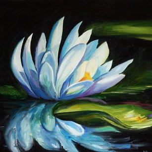 Art: Evening Water Lily Two by Artist Laurie Justus Pace