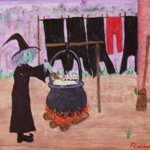 Art: Witch Wash Day (Not for Sale) by Artist Fran Caldwell