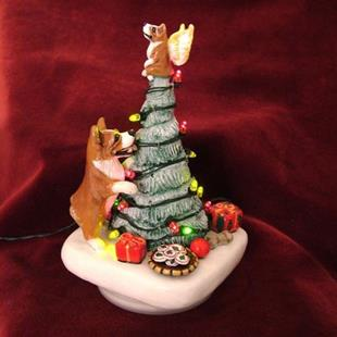 Art: Corgi Christmas Candy/Treat Jar by Artist Camille Meeker Turner