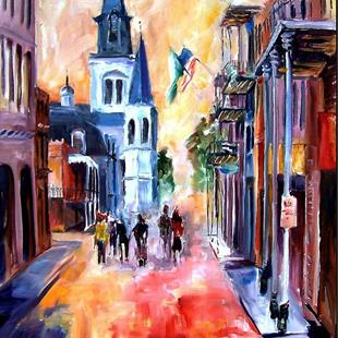 Art: Misty Morning on Chartres Street - SOLD by Artist Diane Millsap