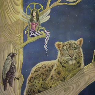 Art: Lady of the Trees by Artist Rob Robie