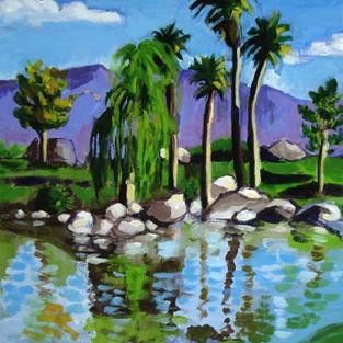 Art: Lakeside 2007 by Artist Muriel Areno