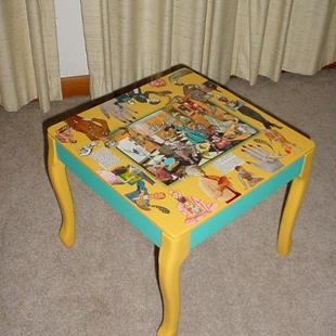 Art: Small Table - Collage SOLD by Artist Vicky Helms