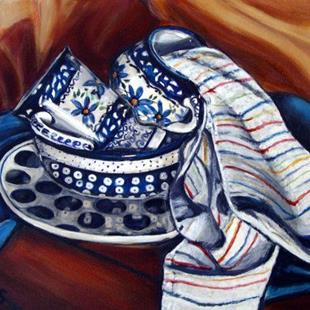 Art: Cleaning Up!: Polish Pottery XXIII by Artist Heather Sims