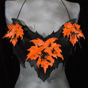 Art: Morbid Folk-Fetish Witching Hour Bat Bodice by Artist Barbara Doherty (MidnightZodiac Leather)